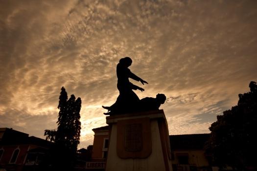 Abbe Faria Statue in Panjim, Goa